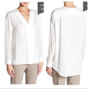 NWT! Vince Long Sleeve Embroidered Blouse
